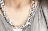 Sterling silver round beads Necklace 重ね付け 動画