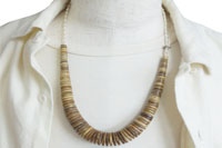 COCONUT WOOD BEADS &STERLING SILVER BEADS NECKLACE(ココナッツウッドビーズ&スターリングシルバービーズネックレス)