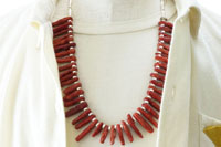 CORAL&STERLING SILVER BEADS NECKLACE(コーラル&スターリングシルバービーズ ネックレス)