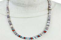 SHELL&CORAL&TURQUOISE NECKLACE(シェル&コーラル&ターコイズ ネックレス)