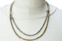 ヘマタイト ネックレス兼用3重巻ブレスレット