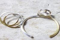 純銀&真鍮リング