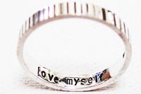 純銀製 love myself RING