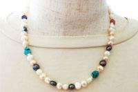 真珠【パール】ネックレス兼用3重巻きブレスレット(個人オーダー品)