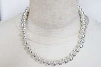 Sterling silver round beads Necklace(シルバー925 ラウンドビーズネックレス)47cm