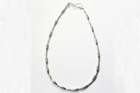 Sterling silver pipe beads Necklace(シルバー925 パイプビーズネックレス)42cm