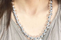 Sterling silver round beads Necklace(シルバー925 ラウンドビーズネックレス)47cm  動画
