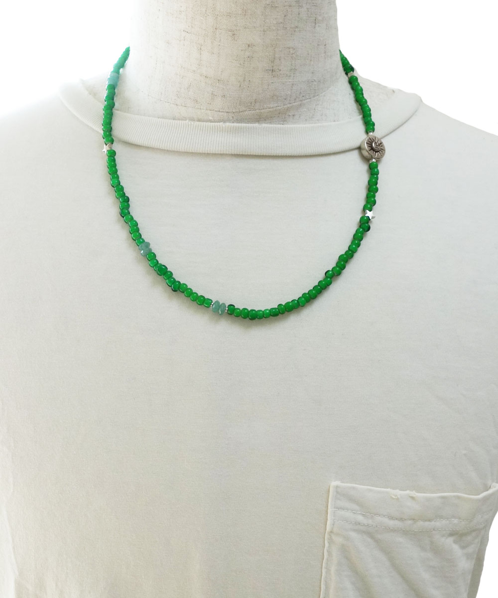 WHITE HEART BEADS NECKLACE(ホワイトハートビーズネックレス)2