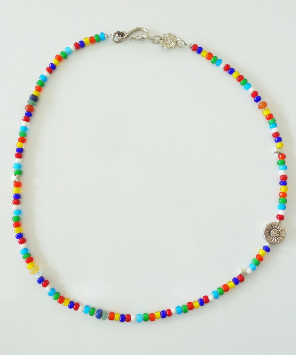 WHITE HEART BEADS NECKLACE(ホワイトハートビーズネックレス)3