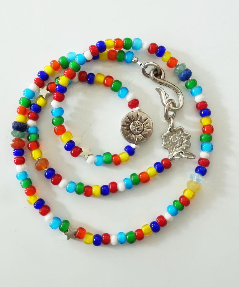 WHITE HEART BEADS NECKLACE(ホワイトハートビーズネックレス)5