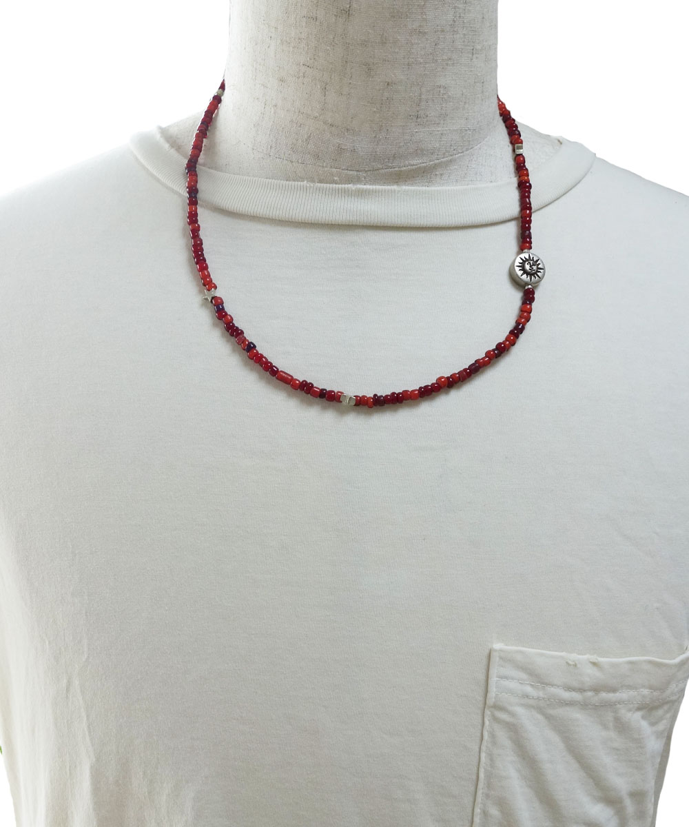 WHITE HEART BEADS  NECKLACE(ホワイトハートビーズネックレス) 2