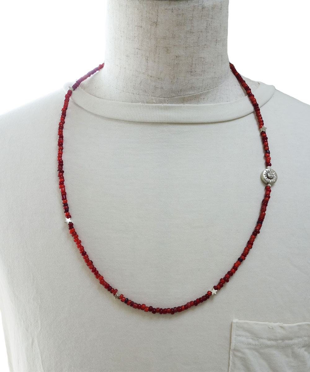 WHITE HEART BEADS  LONG NECKLACE(ホワイトハートビーズロングネックレス)2