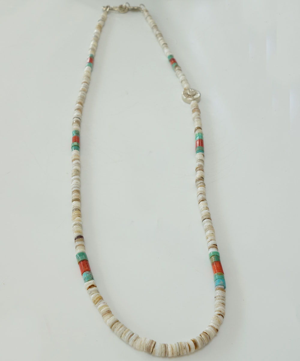 TURQUISE(ターコイズ) & HEISHI  NECKLACE(ヒイシーネックレス)5