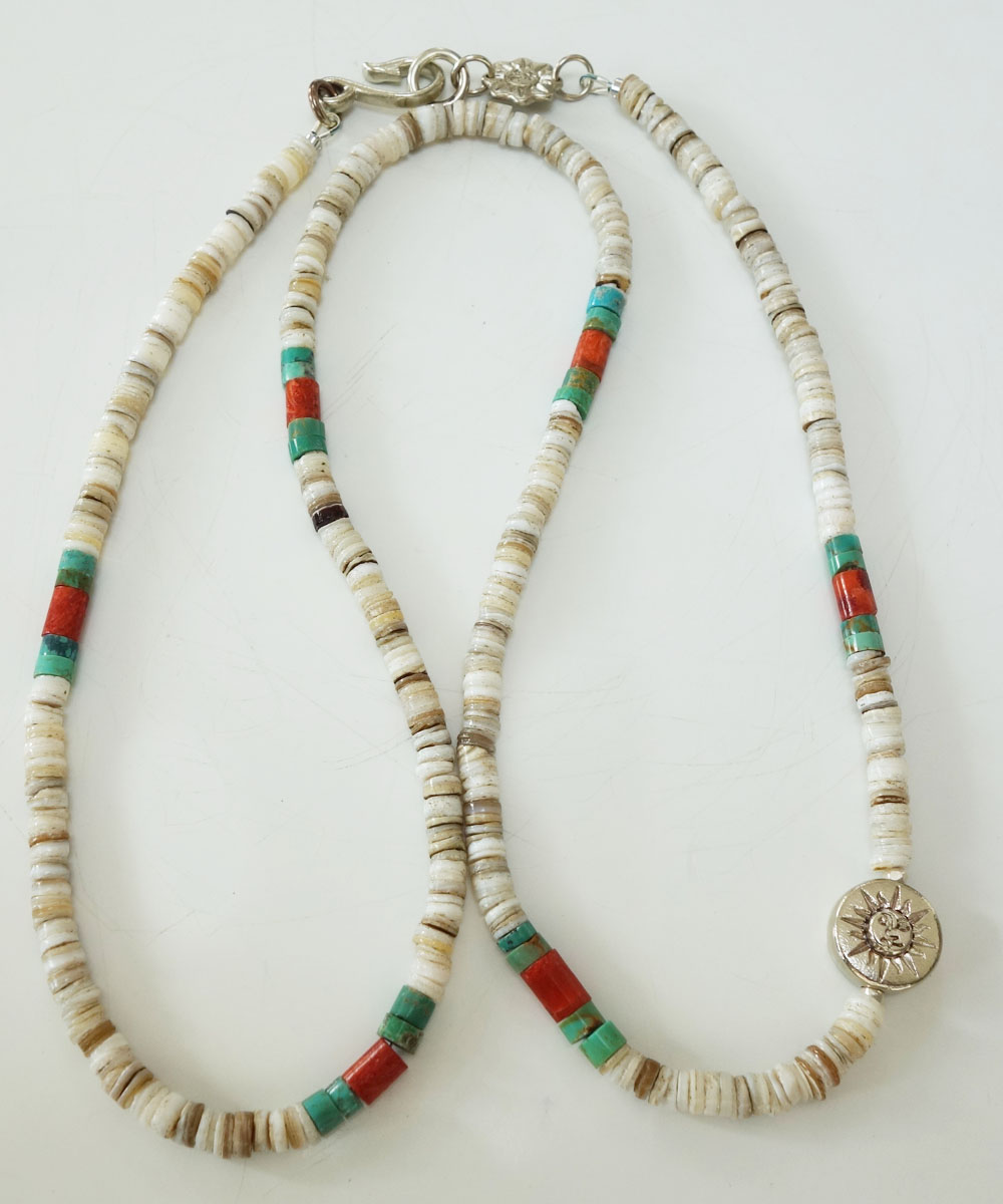 TURQUISE(ターコイズ) & HEISHI  NECKLACE(ヒイシーネックレス)6