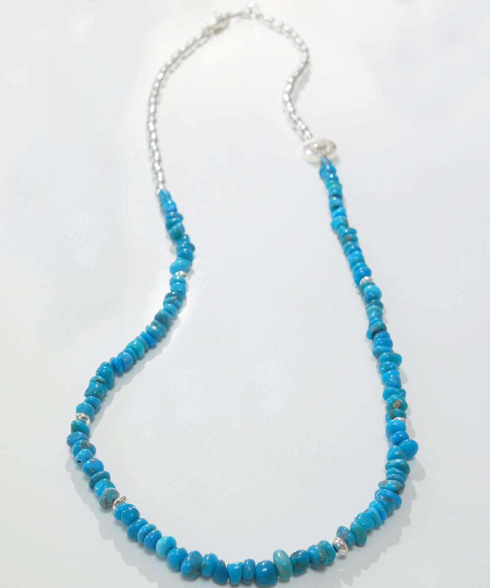SLEEPING BEAUTY TURQUOISE(スリーピングビューティーターコイズ)&SILVER925  NECKLACE(シルバー925ネックレス)3