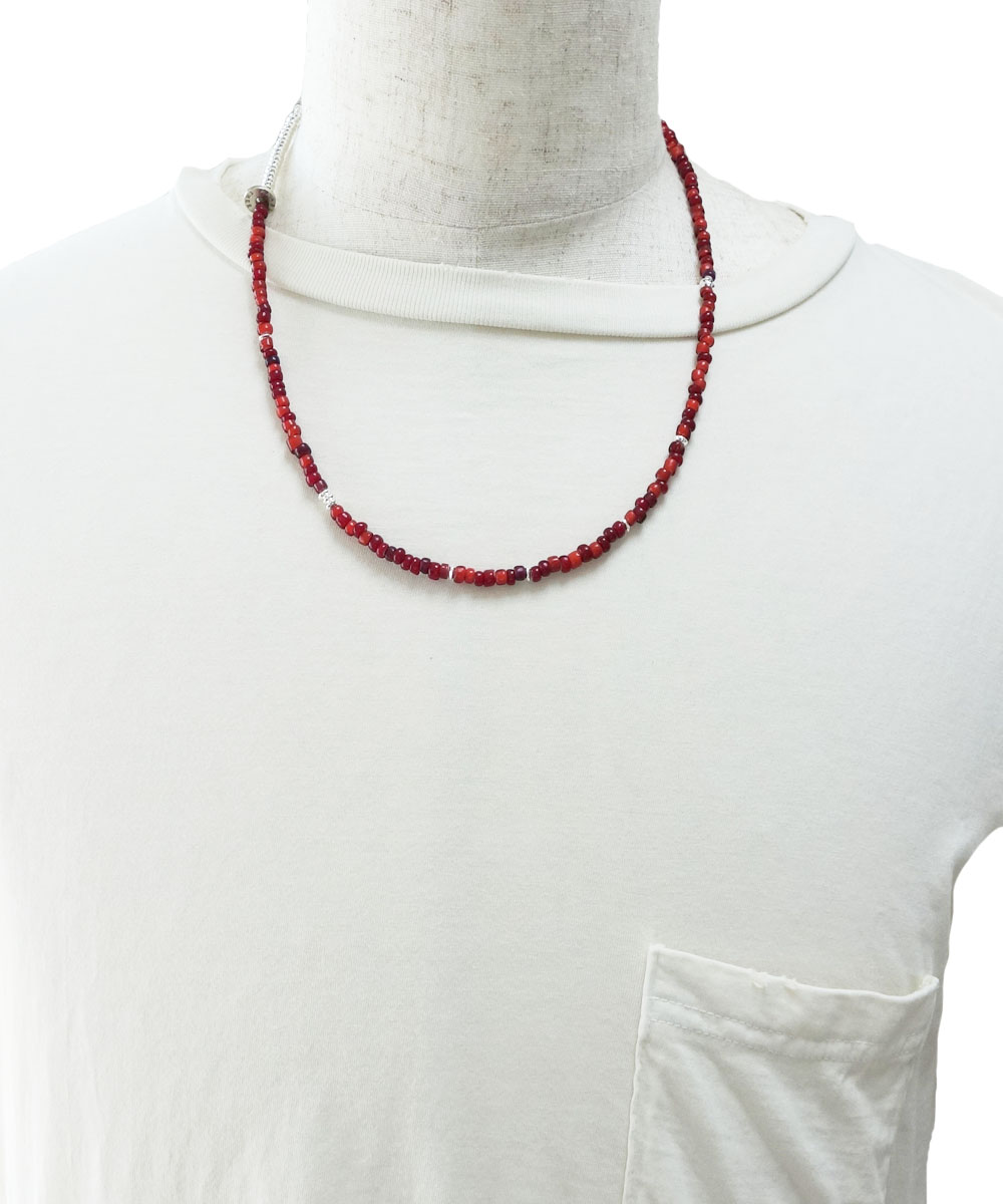 WHITE HEART&STERLING SILVER  NECKLACE(ホワイトハート&スターリングシルバーネックレス)2