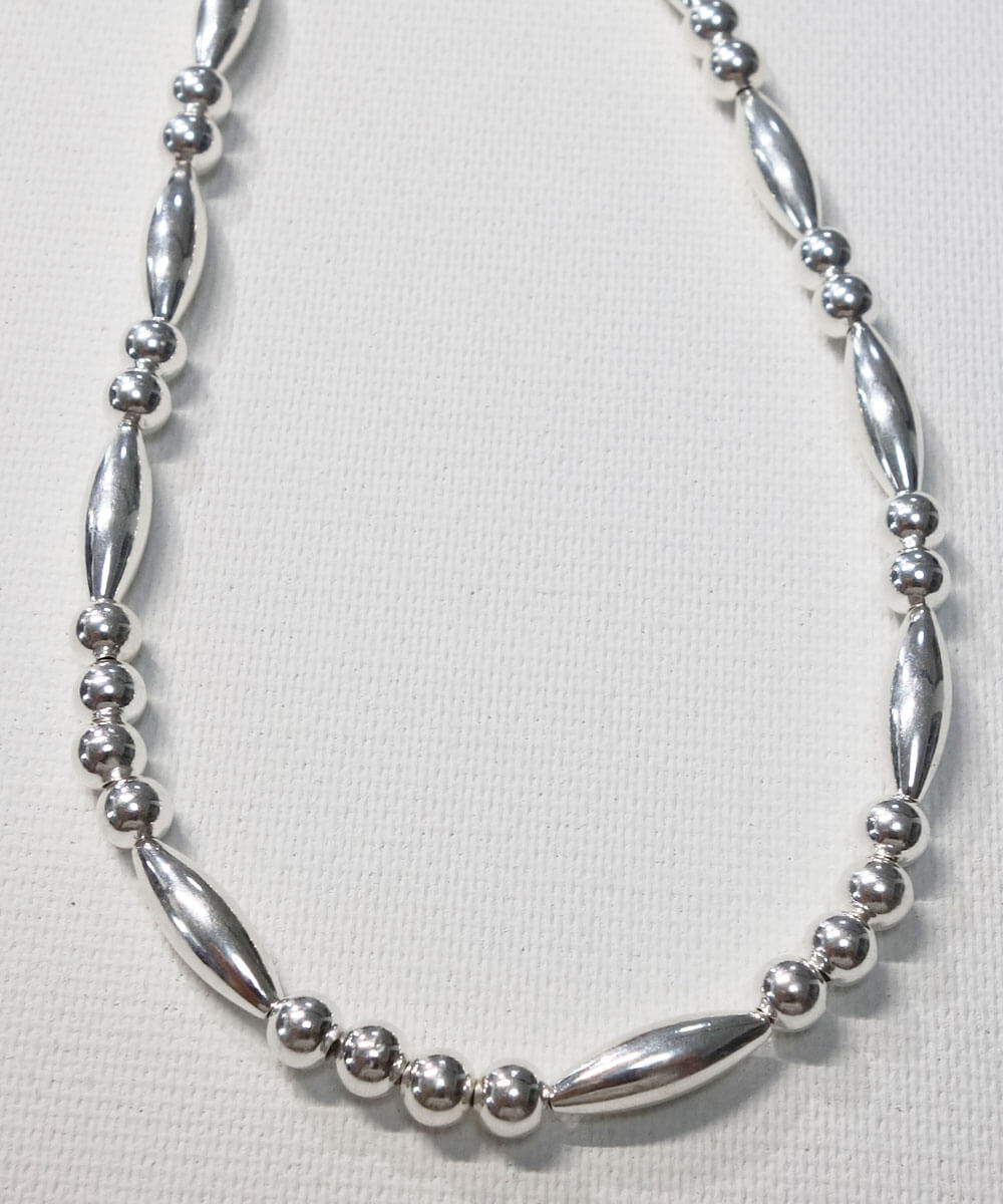 STERLING SILVER PIPE BEADS & TURQUOISE  NECKLACE(スターリングシルバーパイプビーズ&ターコイズネックレス)7