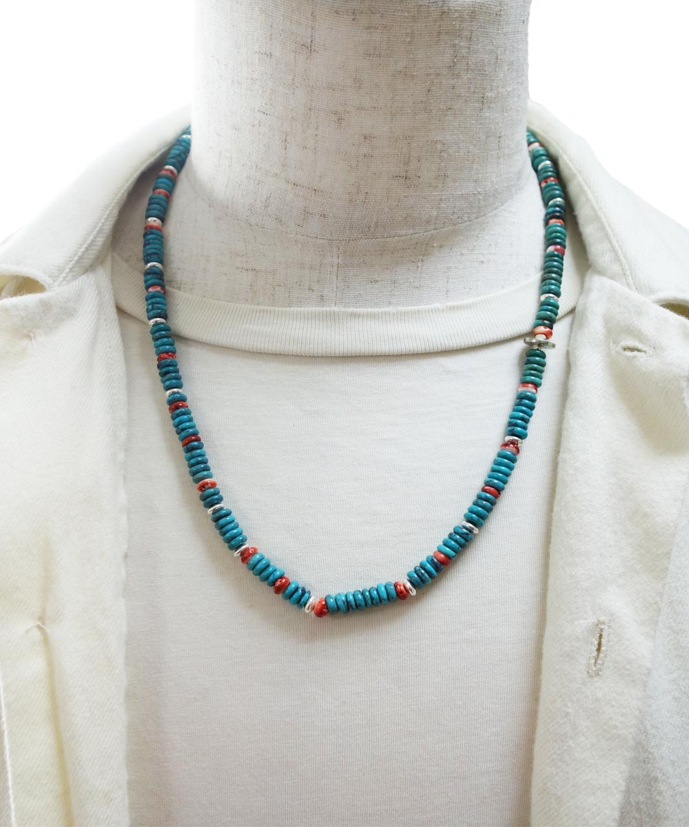 TURQUOISE & SPINY OYSTER SHELL NECKLACE(ターコイズ&スパイニーオイスターシェル ネックレス)
