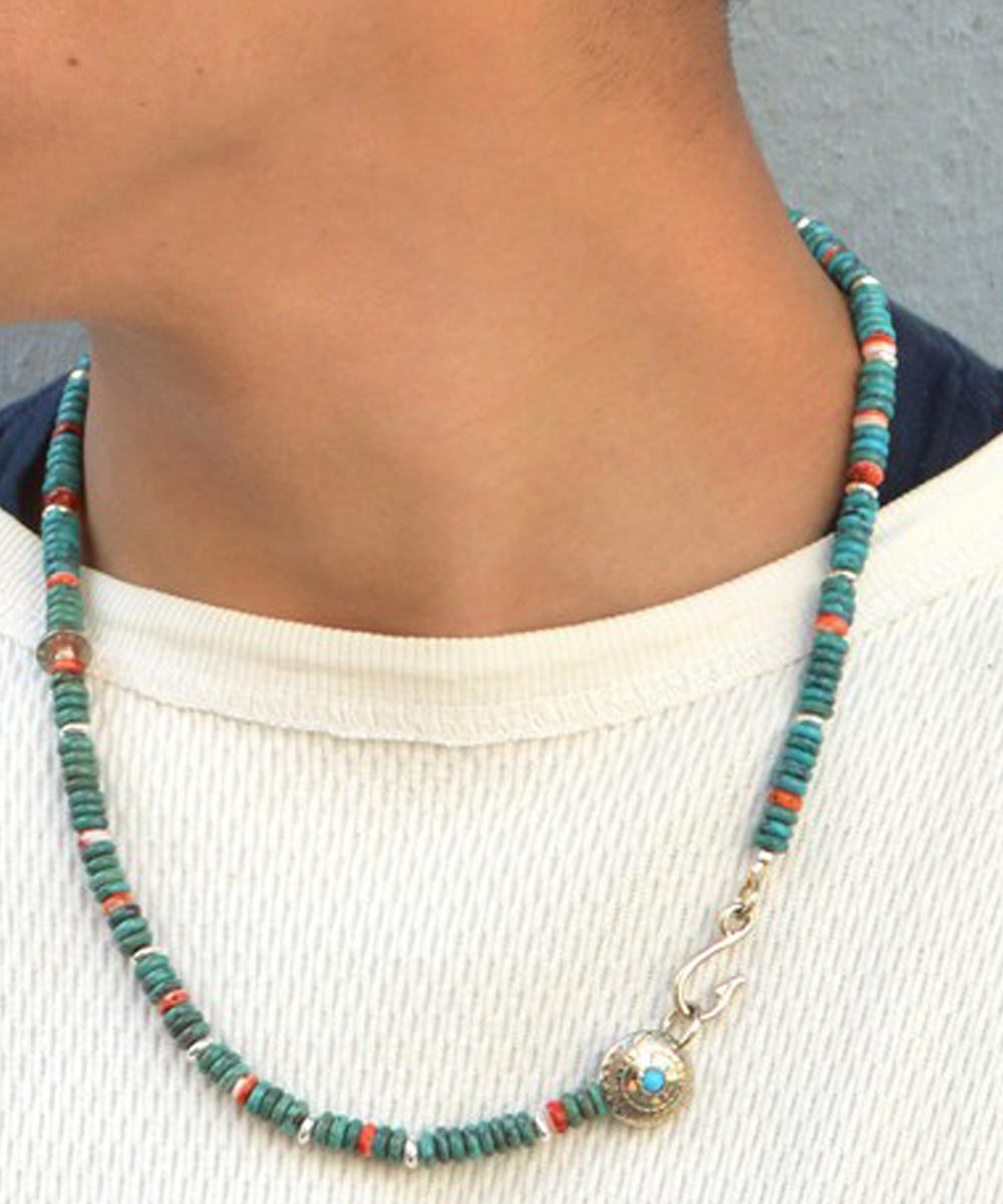 TURQUOISE & SPINY OYSTER SHELL NECKLACE(ターコイズ&スパイニーオイスターシェル ネックレス)2