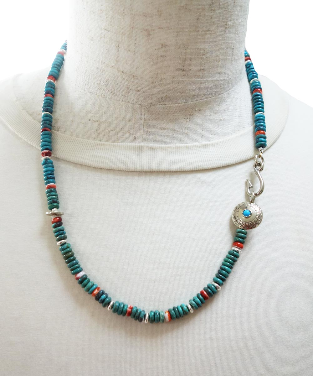 TURQUOISE & SPINY OYSTER SHELL NECKLACE(ターコイズ&スパイニーオイスターシェル ネックレス)3