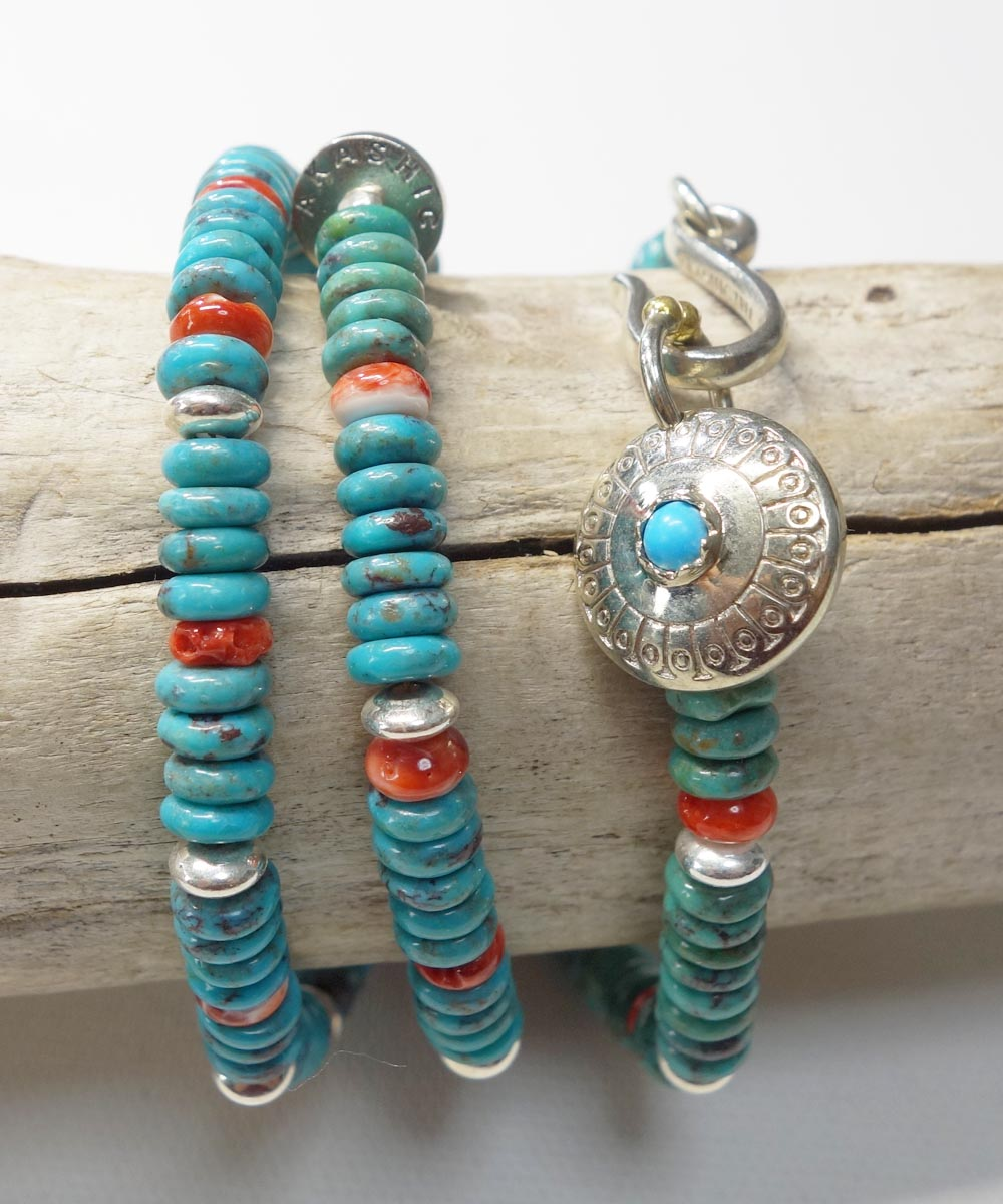 TURQUOISE & SPINY OYSTER SHELL NECKLACE(ターコイズ&スパイニーオイスターシェル ネックレス)4