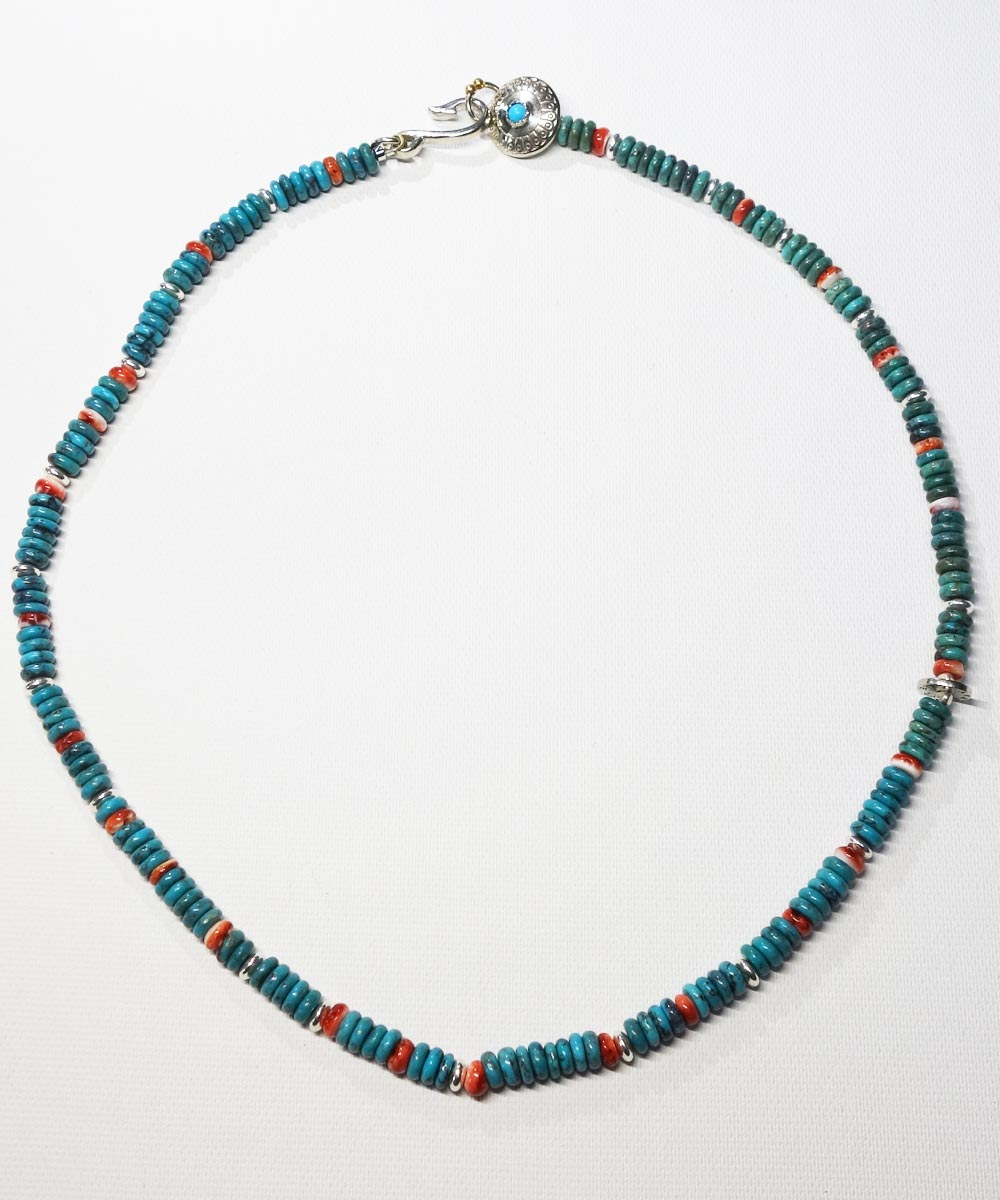 TURQUOISE & SPINY OYSTER SHELL NECKLACE(ターコイズ&スパイニーオイスターシェル ネックレス)5