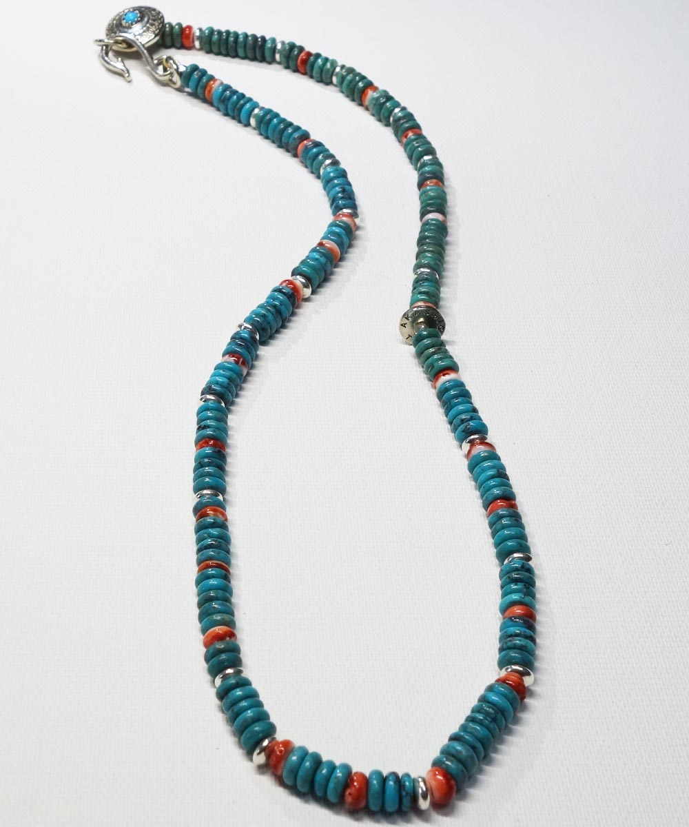 TURQUOISE & SPINY OYSTER SHELL NECKLACE(ターコイズ&スパイニーオイスターシェル ネックレス)9