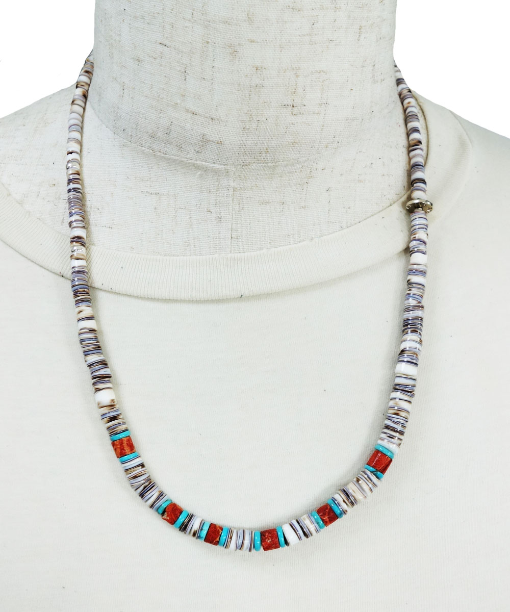 SHELL&CORAL &TURQUOISE NECKLACE(シェル&コーラル&ターコイズネックレス)