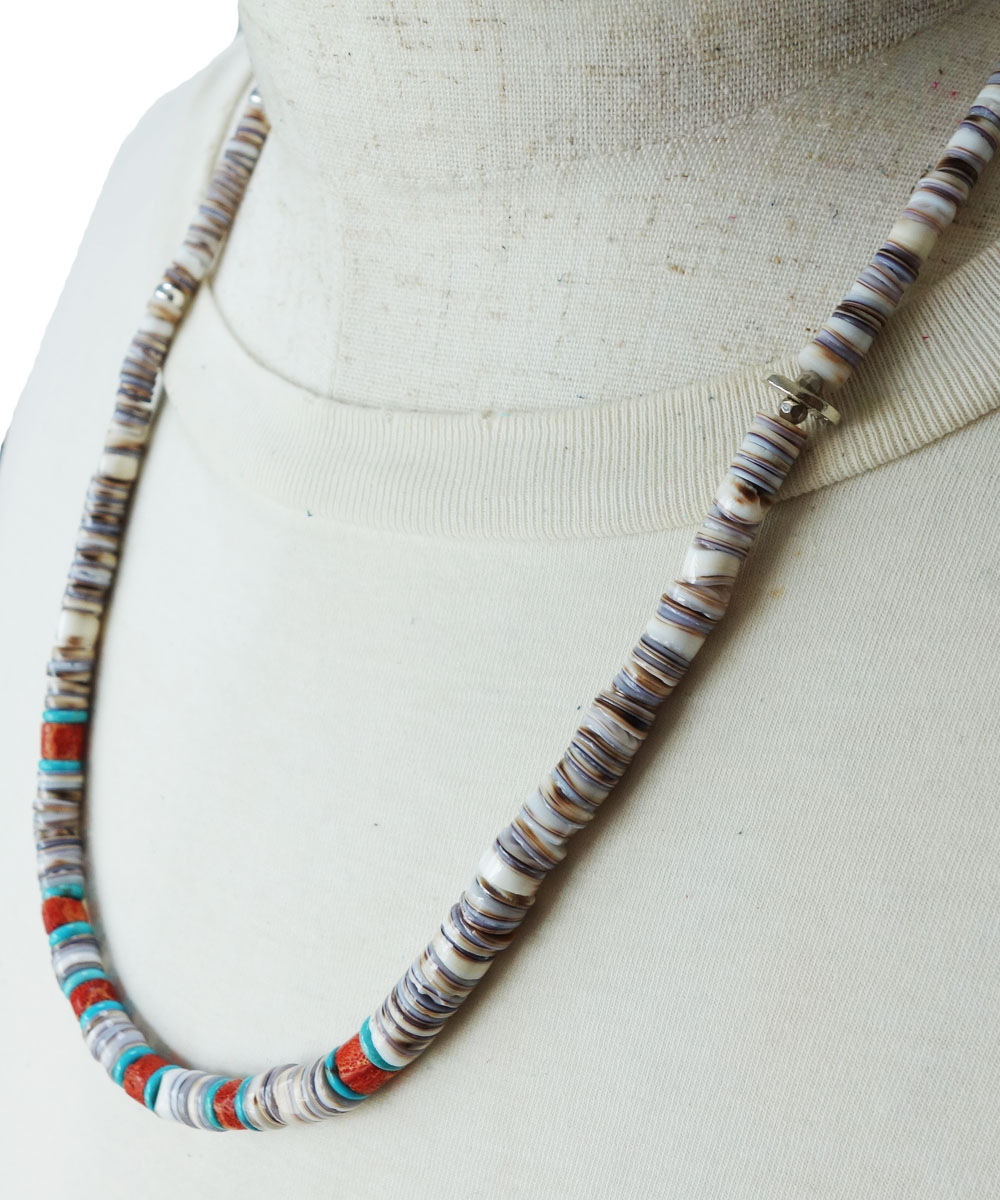 SHELL&CORAL &TURQUOISE NECKLACE(シェル&コーラル&ターコイズネックレス)2