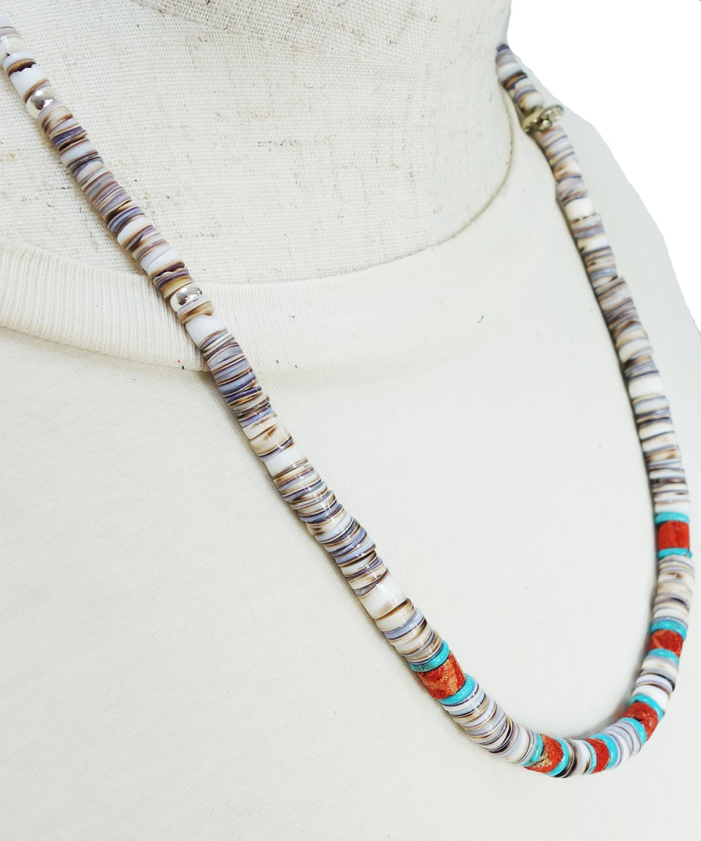 SHELL&CORAL &TURQUOISE NECKLACE(シェル&コーラル&ターコイズネックレス)3