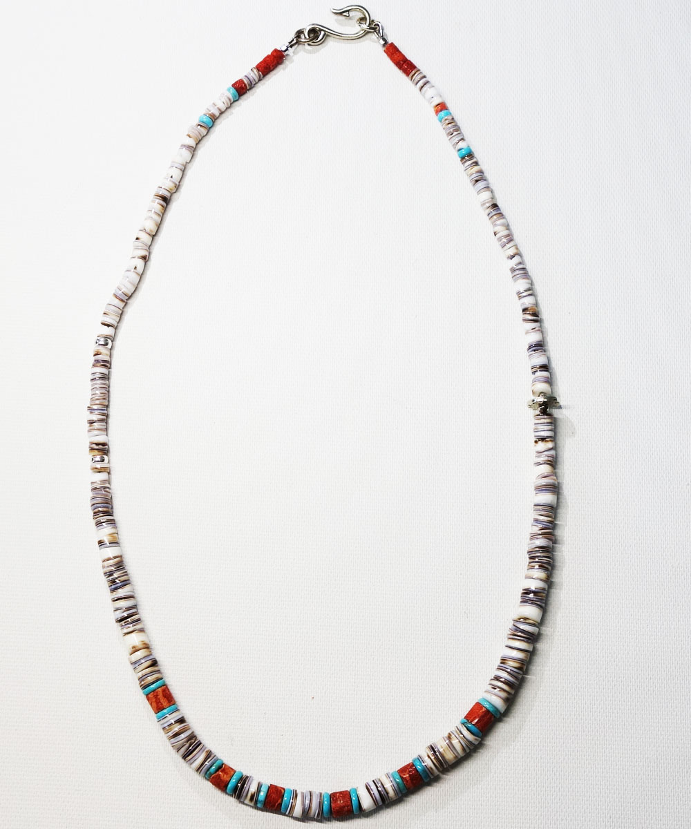 SHELL&CORAL &TURQUOISE NECKLACE(シェル&コーラル&ターコイズネックレス)4