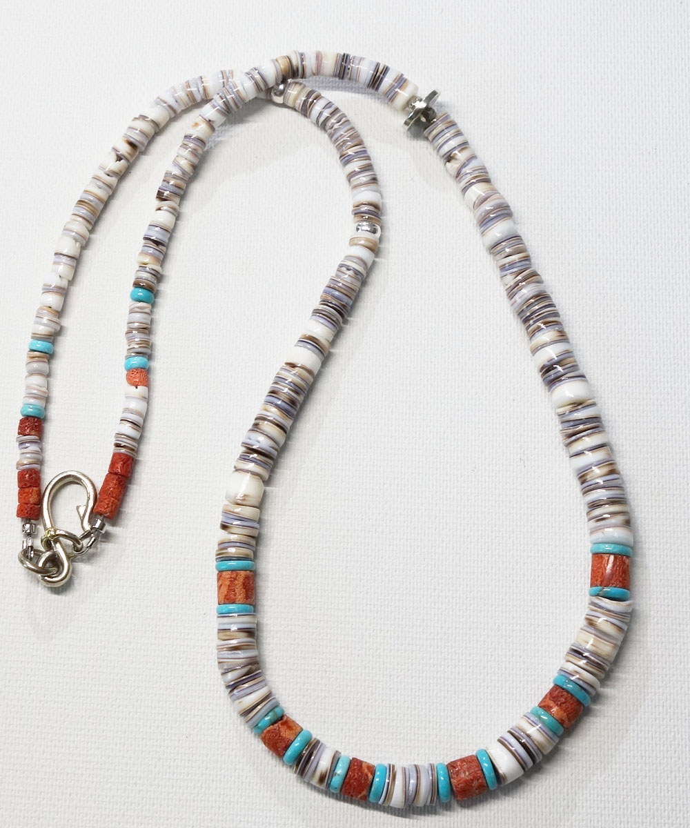 SHELL&CORAL &TURQUOISE NECKLACE(シェル&コーラル&ターコイズネックレス)5