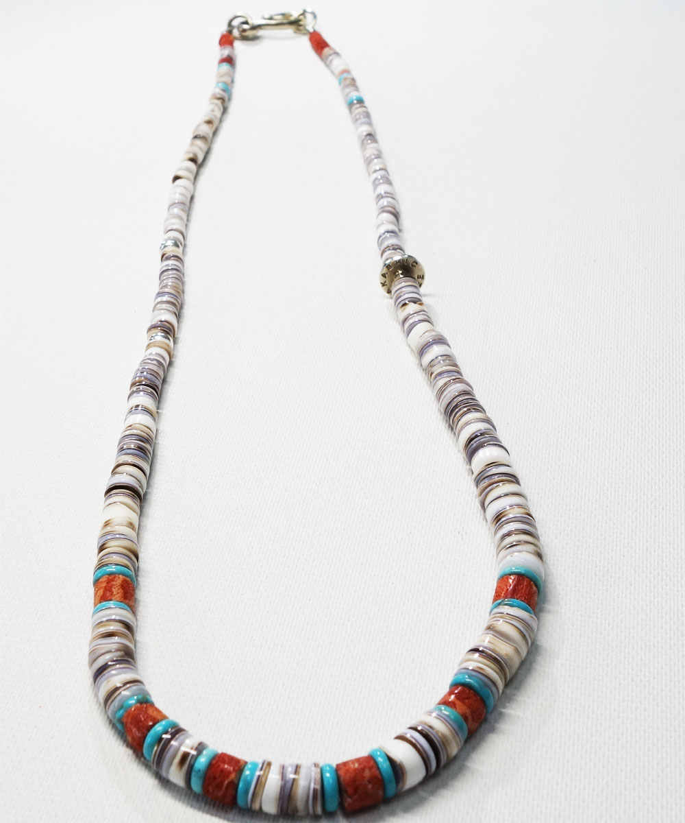 SHELL&CORAL &TURQUOISE NECKLACE(シェル&コーラル&ターコイズネックレス)6