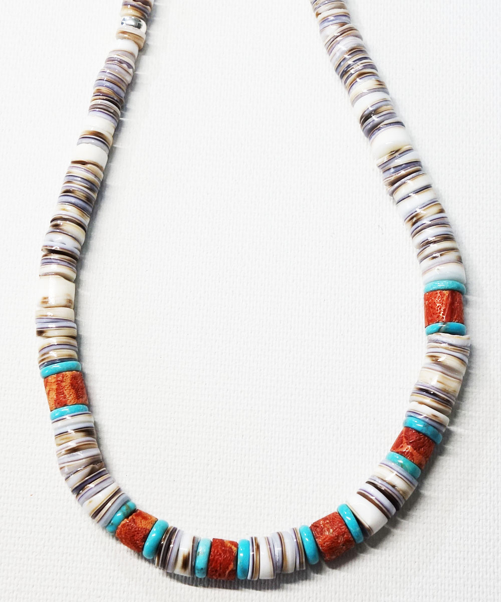 SHELL&CORAL &TURQUOISE NECKLACE(シェル&コーラル&ターコイズネックレス)7