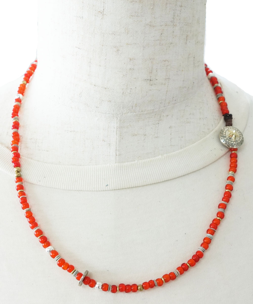 WHITEHEART &SHELL NECKLACE(ホワイトハート&シェルネックレス)