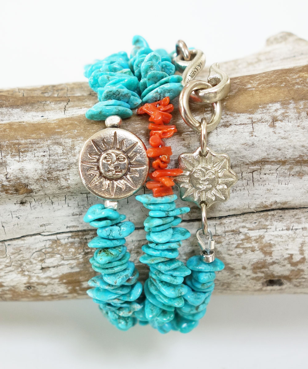 TURQUOISE(ターコイズ)&CORAL  NECKLACE(コーラルネックレス)