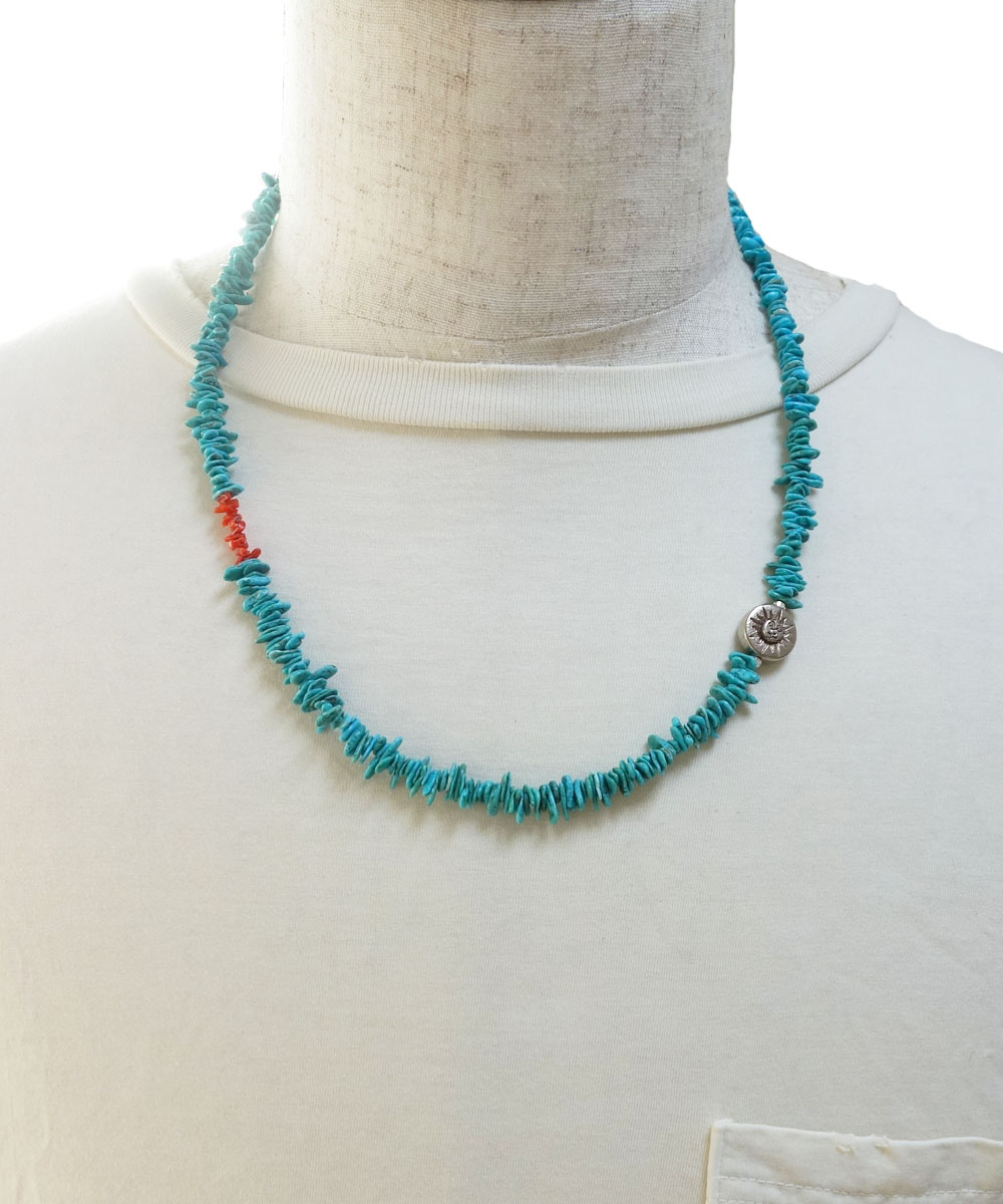 TURQUOISE(ターコイズ)&CORAL  NECKLACE(コーラルネックレス) 2