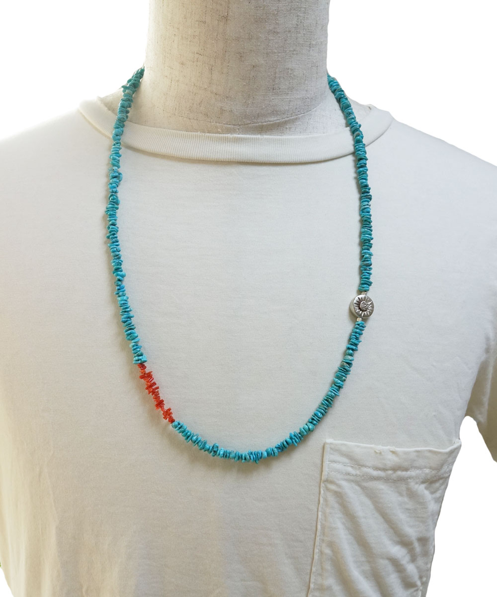 TURQUOISE(ターコイズ)&CORAL LONG NECKLACE(コーラルロングネックレス)2
