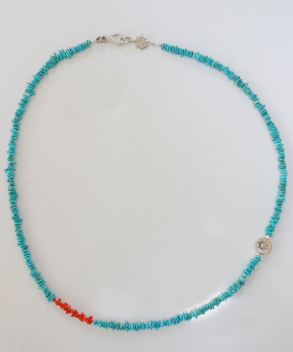 TURQUOISE(ターコイズ)&CORAL LONG NECKLACE(コーラルロングネックレス)3