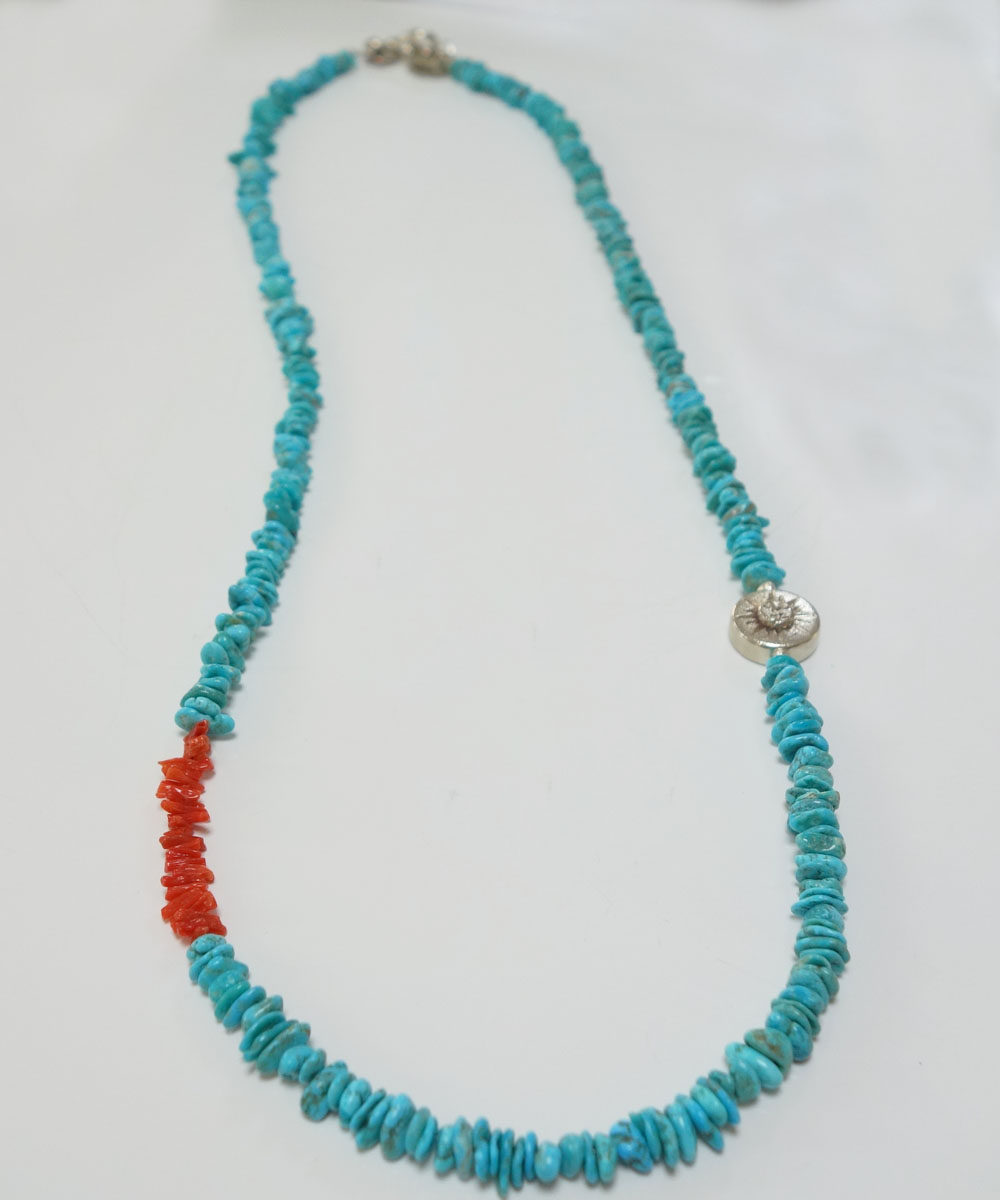 TURQUOISE(ターコイズ)&CORAL LONG NECKLACE(コーラルロングネックレス)4