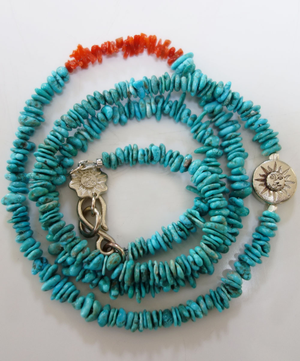 TURQUOISE(ターコイズ)&CORAL LONG NECKLACE(コーラルロングネックレス)5