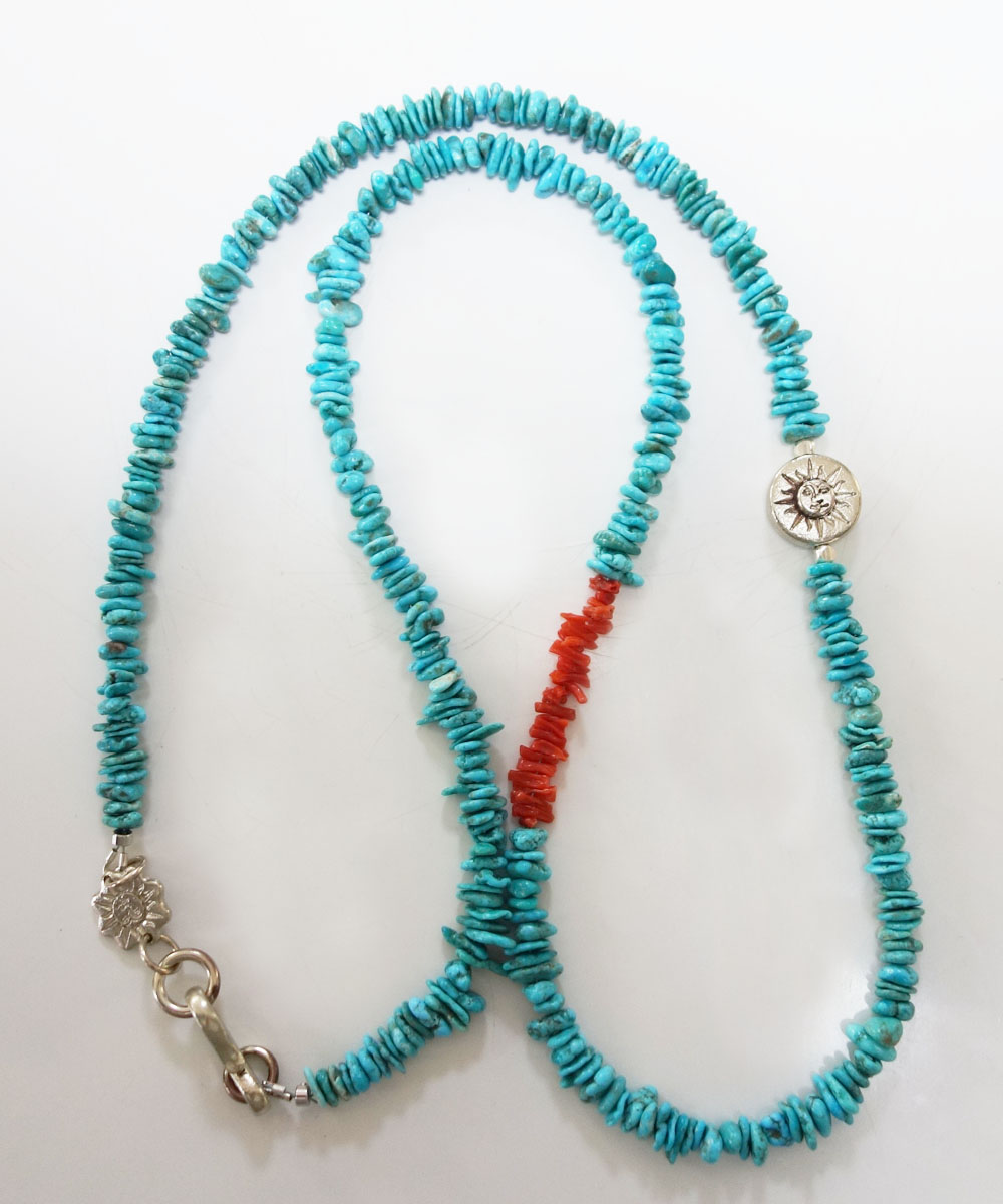 TURQUOISE(ターコイズ)&CORAL LONG NECKLACE(コーラルロングネックレス)6