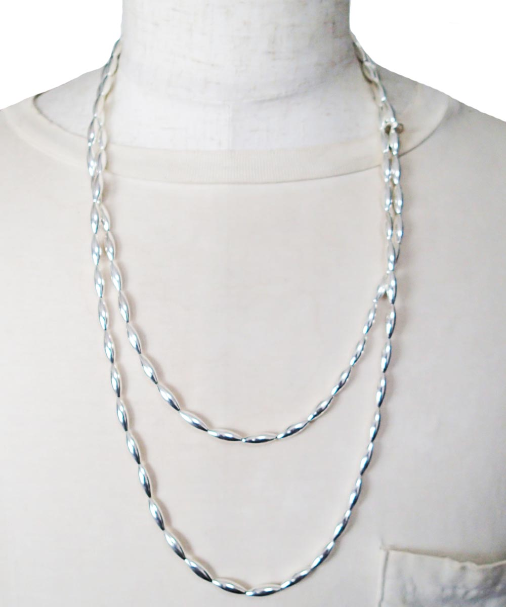 STERLING SILVER PIPE LONG NECKLACE (シルバー925 パイプロングネックレス)2