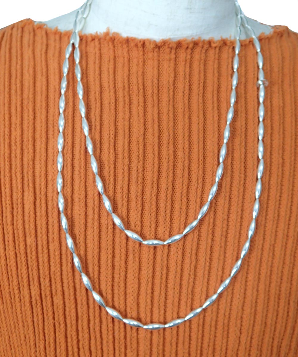 STERLING SILVER PIPE LONG NECKLACE (シルバー925 パイプロングネックレス)3