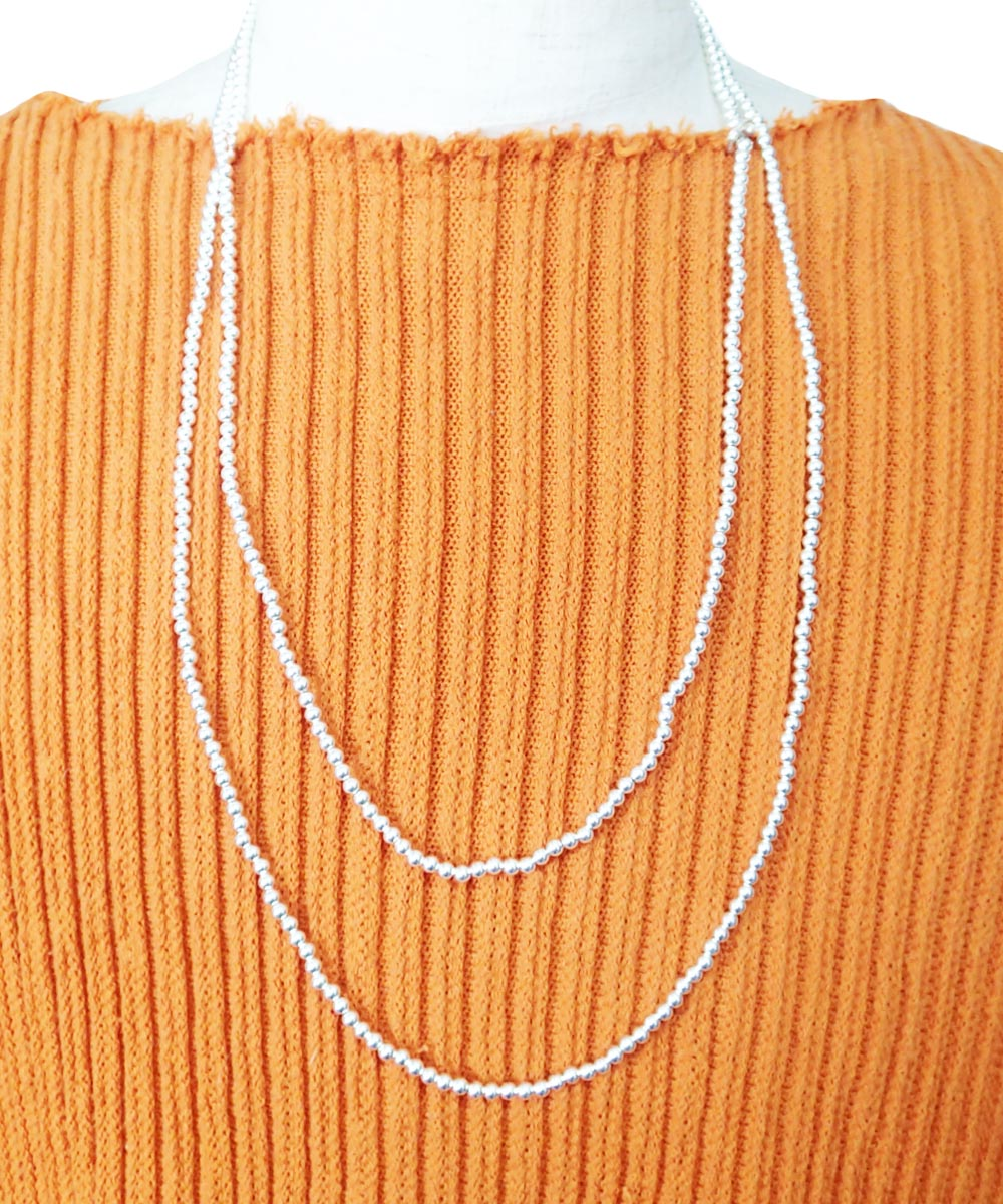 STERLING SILVER ROUND LONG NECKLACE (シルバー925 ラウンドロングネックレス)