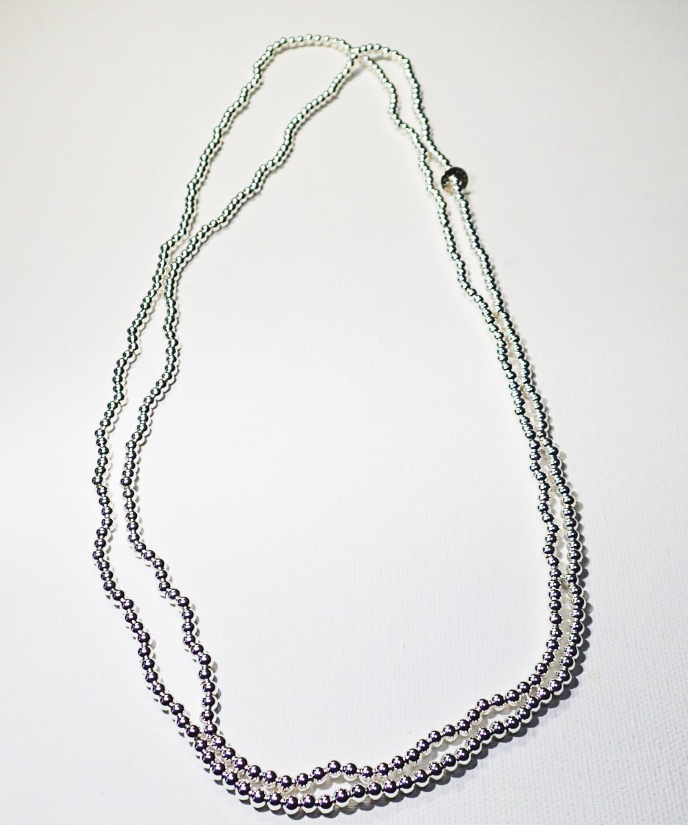 STERLING SILVER ROUND LONG NECKLACE (シルバー925 ラウンドロングネックレス)2