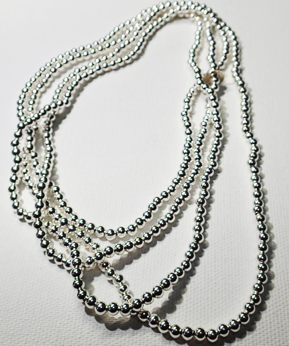 STERLING SILVER ROUND LONG NECKLACE (シルバー925 ラウンドロングネックレス)5