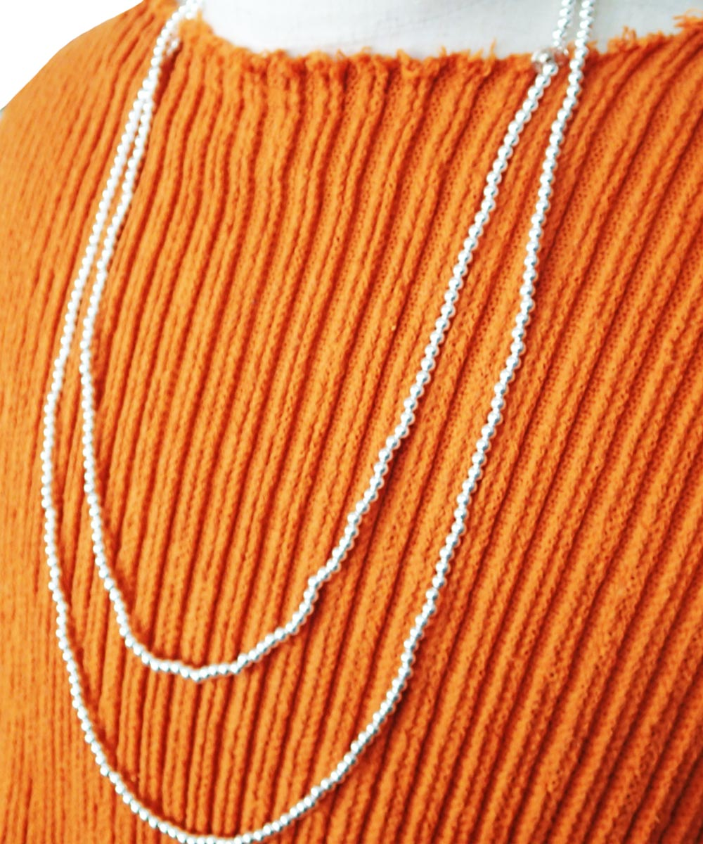 STERLING SILVER ROUND LONG NECKLACE (シルバー925 ラウンドロングネックレス)6