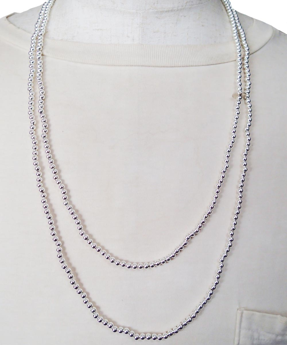 STERLING SILVER ROUND LONG NECKLACE (シルバー925 ラウンドロングネックレス)7