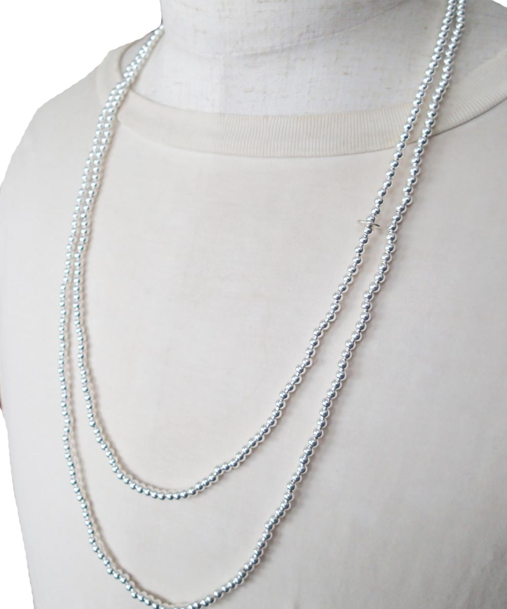 STERLING SILVER ROUND LONG NECKLACE (シルバー925 ラウンドロングネックレス)8